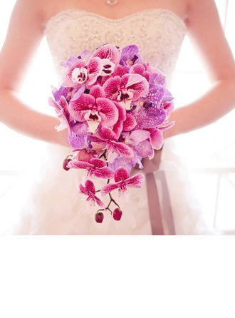Comely Cascade Cloth Bridal Bouquets/Bridesmaid Bouquets -