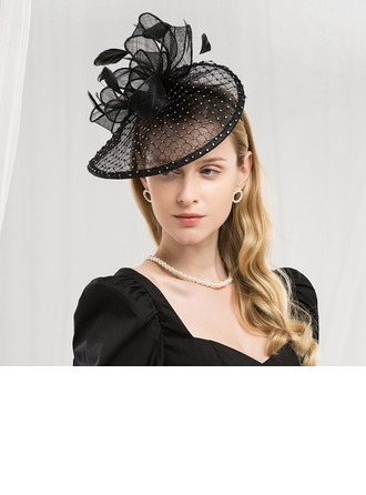 Ladies' Fashion/Glamourous/Elegant Cambric With Feather Fascinators/Kentucky Derby Hats/Tea Party Hats