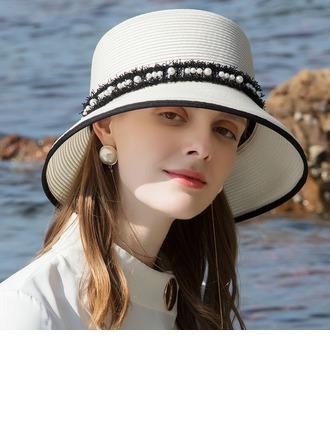 Ladies' Glamourous/Classic/Elegant/Simple/Nice Pp With Imitation Pearls Beach/Sun Hats