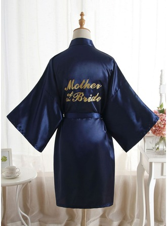Non-personalized Polyester Mom Glitter Print Robes