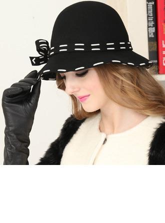 Dames Elegant Wol met strik Emmer hoed