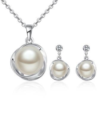 Tyylikäs Metalliseos/Pearl/Kristalli Sonar Naisten Korut lavastus