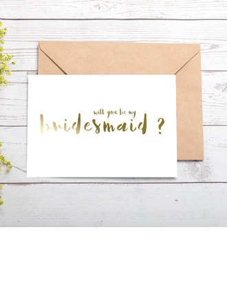 Bridesmaid Gifts - Attractive Special Eye-catching Card Paper Wedding Day Card (Set of 4)