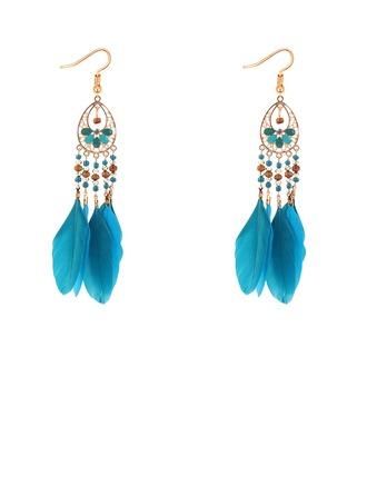 Shining Alloy Feather Fashion Earrings