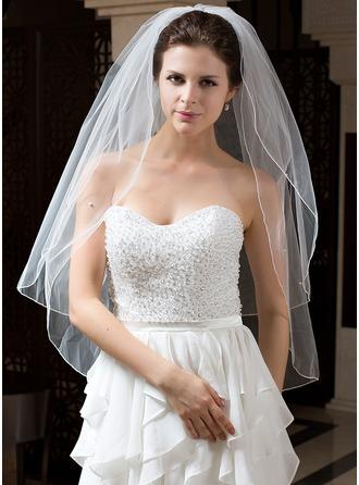 Dos capas Velos de novia vals con Lápiz
