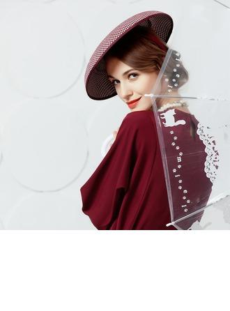 Polyesteri jossa Silkki kukka Keilaaja / Clochen hattu