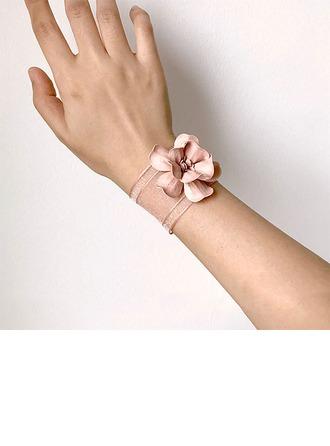 Desabrochar Mão-amarrado Flor de seda Buquê de pulso -