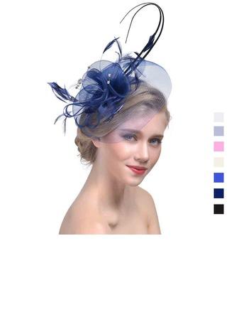 Ladies' Elegant Cambric With Feather Fascinators