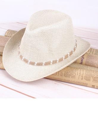 Hommes Glamour Paille salée Chapeau de cowboy/Kentucky Derby Des Chapeaux