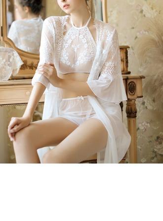 Koronka Klasyczny Kobiecy Zestawy dla Sleepwear
