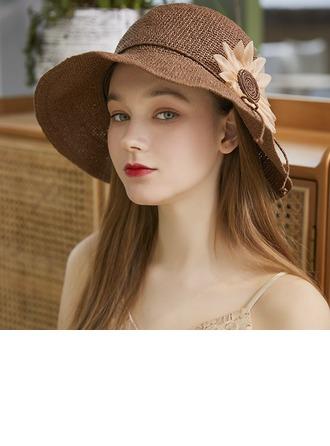 Ladies' Exquisite/Hottest Raffia Straw With Silk Flower Beach/Sun Hats/Tea Party Hats