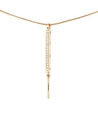 18 Karat vergoldet Bar Anhänger Halskette