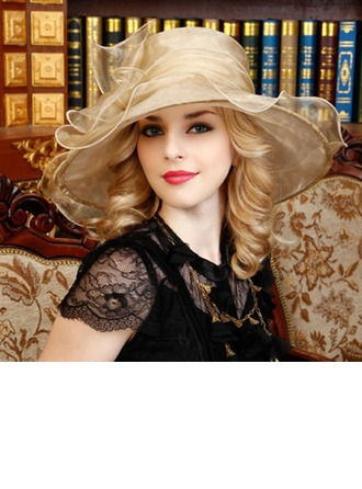 Dames Mooi Organza met strik Slappe Hat
