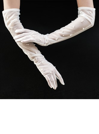 Tulle Opera Length Bridal Gloves
