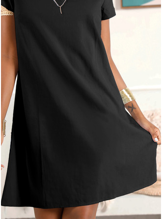 Shift V-Neck Cotton Dresses