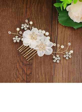 Filles Glamour De faux pearl/Perles Des peignes et barrettes (Vendu dans une seule pièce)