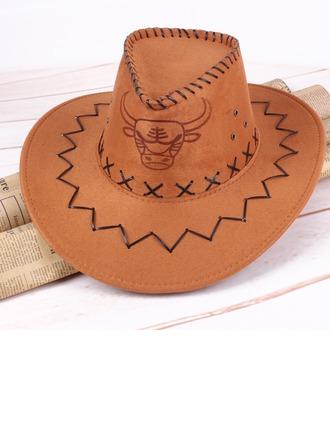 De los hombres Estilo de la vendimia Imitación De Cuero Sombrero de vaquero