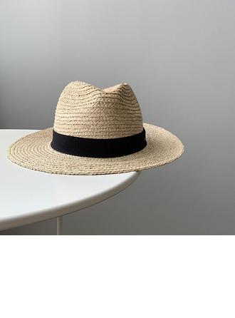 Unisex Mais quente Linho/Palha Salgada Chapéu de palha/Chapéu panamá/Kentucky Derby Bonés