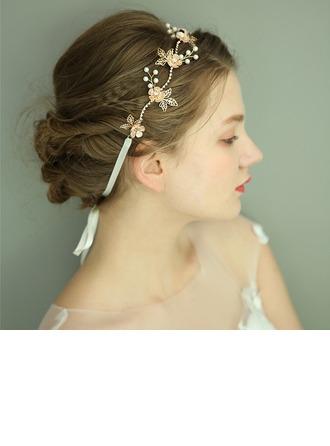 Damska Przepiękny Faux Pearl Opaski Z Weneckie Perły (Sprzedawane w jednym kawałku)