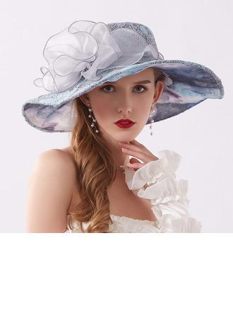 Ladies' Elegant/Fancy Lace With Flower Beach/Sun Hats/Kentucky Derby Hats/Tea Party Hats