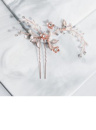 Дамы горный хрусталь/Перлы ложный Комбс и заколки (Продается в виде единой детали)