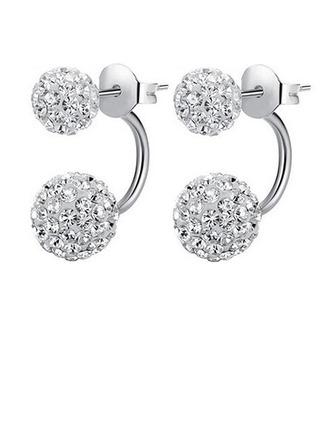 Beautiful Silver With Rhinestone Girls' Fashion Earrings