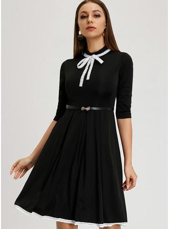 A-Line High Neck Knee-Length Cocktail Dress