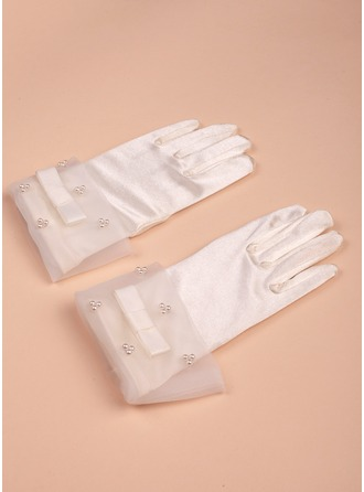 Satén Longitud de la muñeca del guante