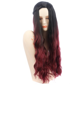 High temperature Wavy Long Layered Synthetic Wigs African American Wigs