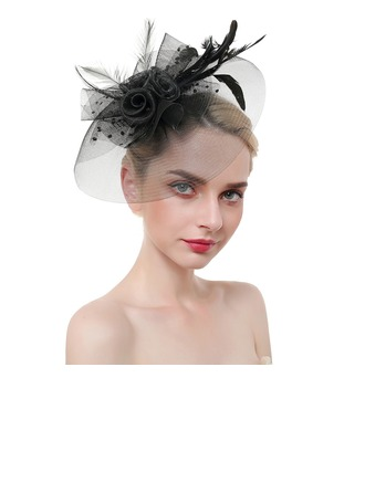 Dames Accrocheur/Charme/Romantique Feather/Fil net avec Feather Chapeaux de type fascinator/Chapeaux Tea Party