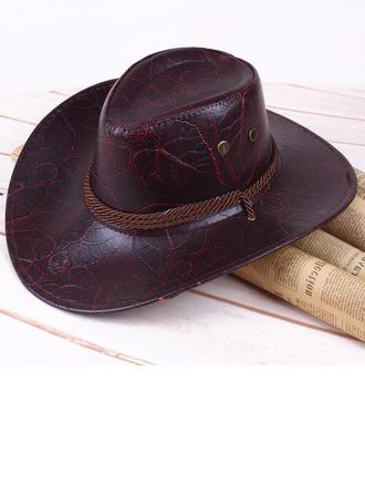 Męskie Klasyczny skórzany/Pu Kowbojski kapelusz