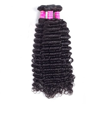 4A Non remy Deep Human Hair Human Hair Weave (Sold in a single piece) 100g
