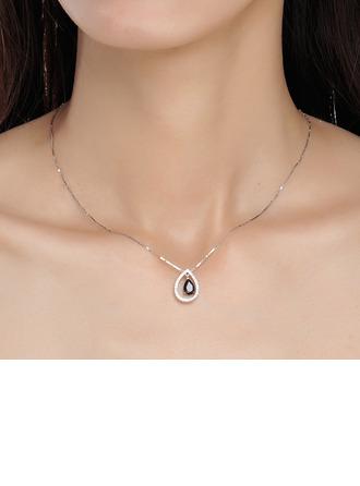 Dames Uniek S925 Silver Kristal Sieraden Sets Haar/Vrienden