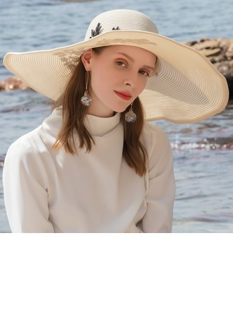 Ladies ' Glamourøse/Classic/Elegant/Enkle/Nice Polyester Strand / Sun Hatte