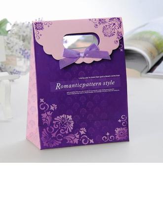 Patrón de estilo romántico Bolsos de regalos con Cintas