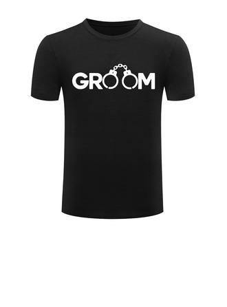 Groom Lahjat - Modern Muoti Puuvilla T-paita (Myyty yhtenä palana)