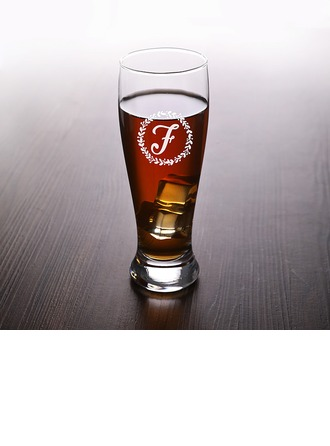 Groom Gifts - Personalized Modern Classic Elegant Glass Glassware and Barware