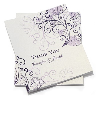 Personalized Floral Style Thank You Cards (Set of 10)