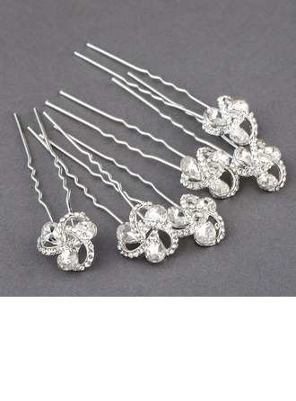 Fashion Rhinestone/Alloy Hairpins(Set of 6)