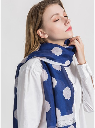 Floral Light Weight/Oversized Silk Scarf