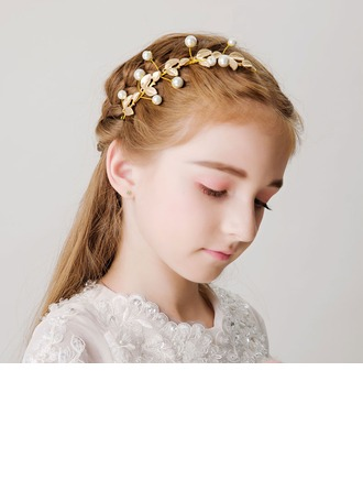 With Imitation Pearls Hairpins (Sold in a single piece)