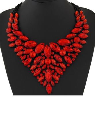 Prächtig Legierung Harz mit Harz Damen Mode-Halskette