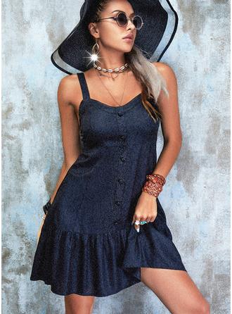 Solid Backless Sheath Sleeveless Mini Little Black Casual Dresses