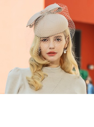 Señoras' Hermoso Madera con Bowknot Tocados/Sombreros Tea Party