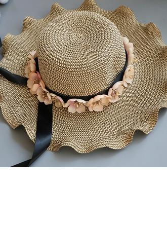 Ladies' Special/Glamourous/Elegant Raffia Straw With Flower Straw Hat/Beach/Sun Hats