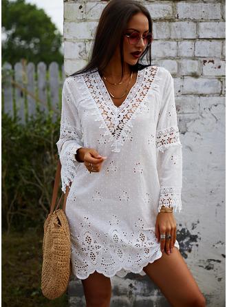 V-Neck Polyester Dresses