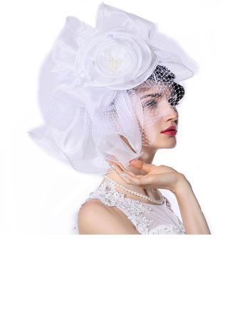 Dames Spécial/Glamour/Exquis Organza avec De faux pearl/Tulle/Une fleur Kentucky Derby Des Chapeaux/Chapeaux Tea Party