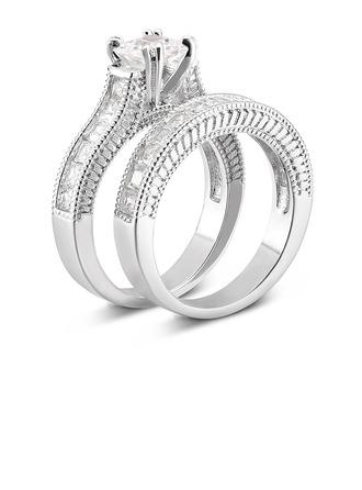 серебро 925 пробы Кубический Цирконий лакомство марочный Подушка Cut Свадебные комплекты -