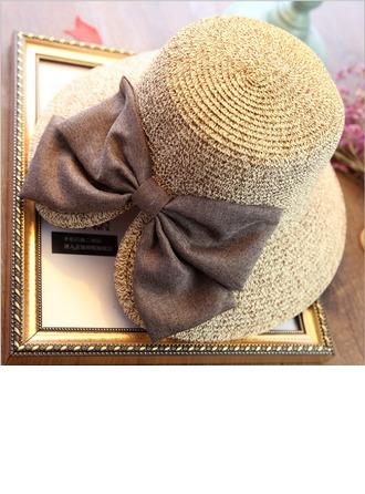 Dames Mode Rotan Straw met strik Slappe Hat/Strand / Zon Hoeden