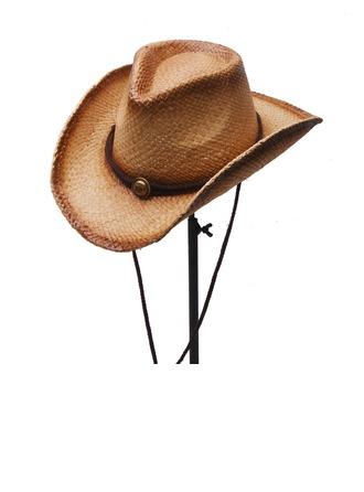 Мужская Горячие Соленая солома соломенная шляпа/Ковбойская шляпа